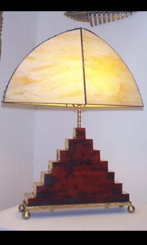 Wood & glass lamp
