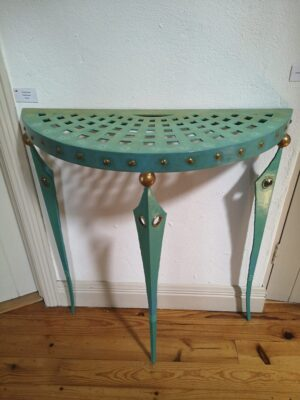 Painted steel table