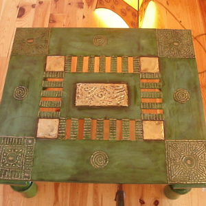 Painted Green table