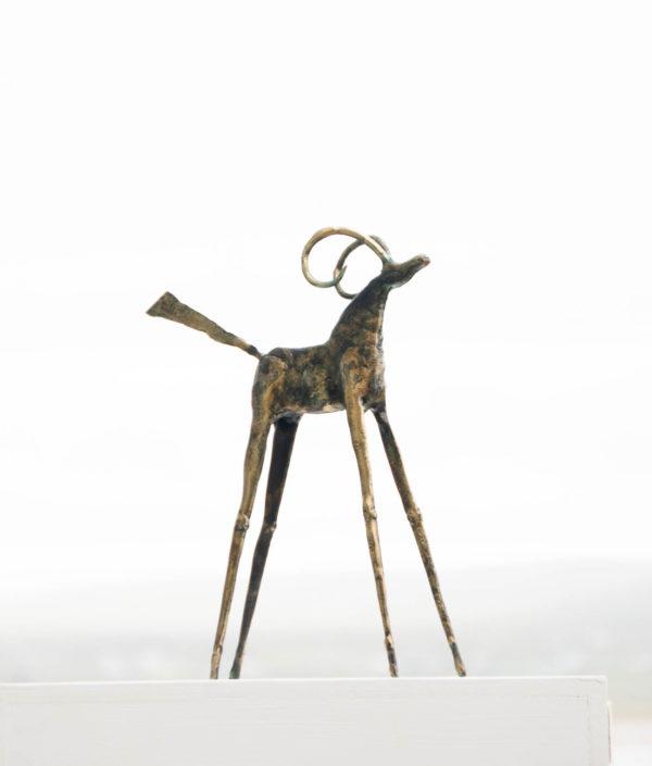 Brass, bronze Goat sculpture