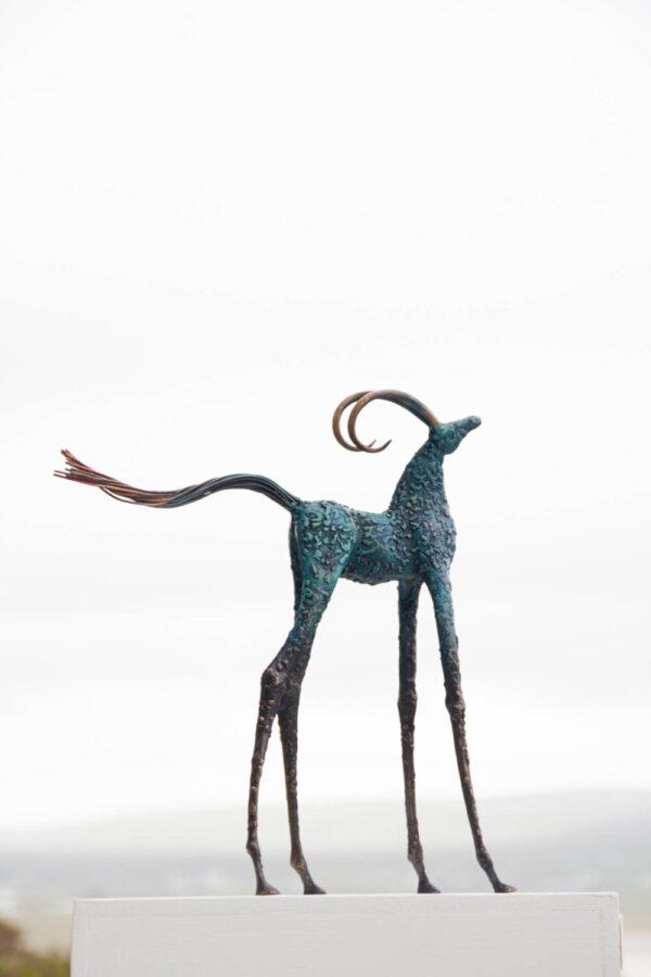 Brass, bronze horse sculpture