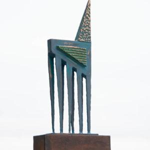 Bronze & Corten steel bull sculpture