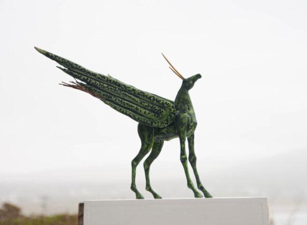 Painted steel horse sculpture