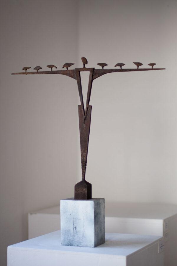 Corten steel figure sculpture