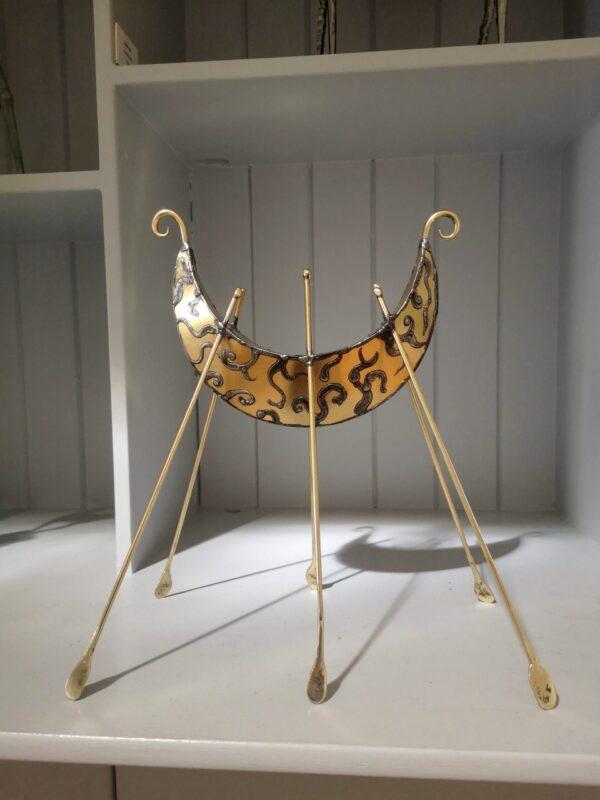 Brass, boat sculpture