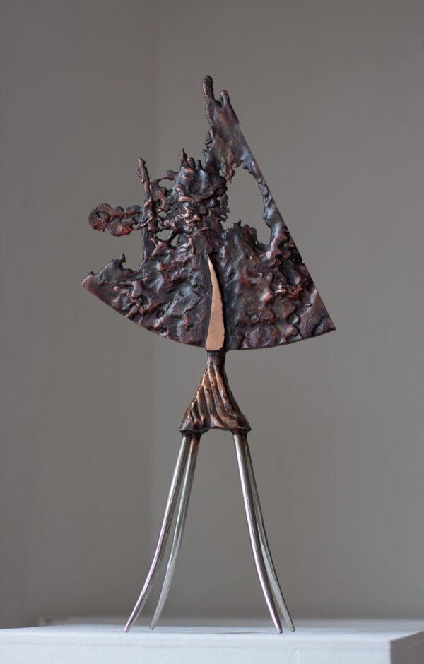 Bronze & stainless steel sculpture