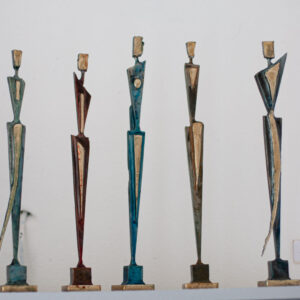 Steel & brass figures