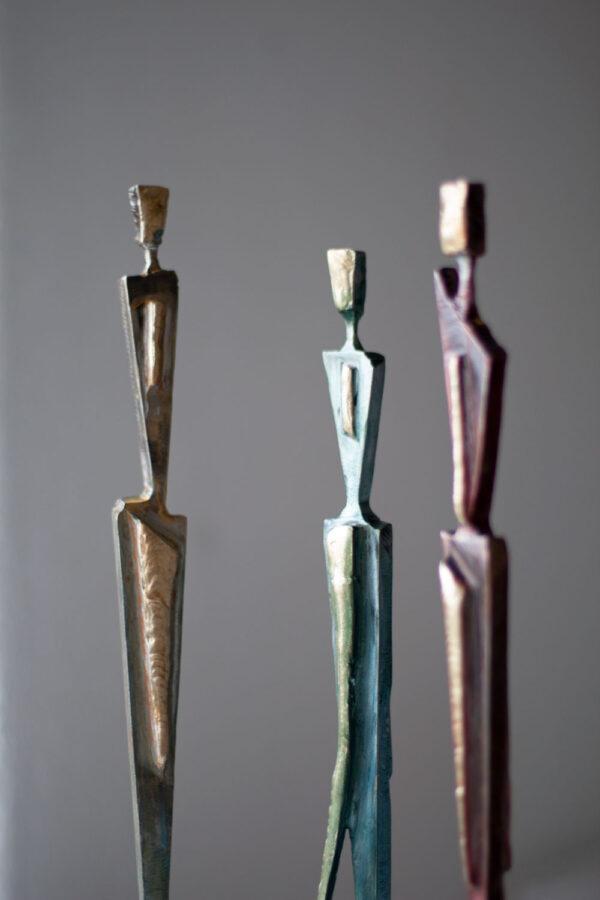 Steel & brass figures
