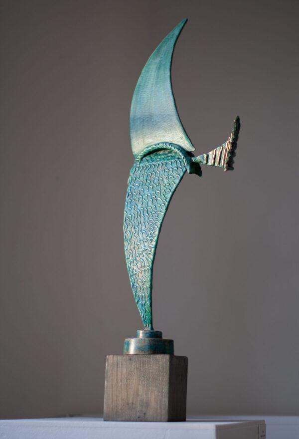 Blue Kite sculpture