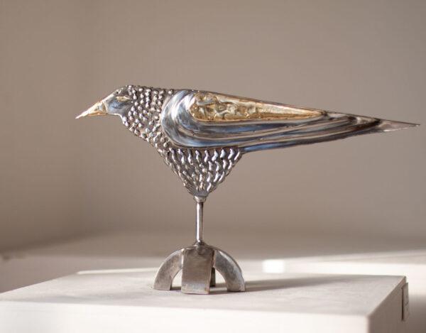 Raven bird sculpture